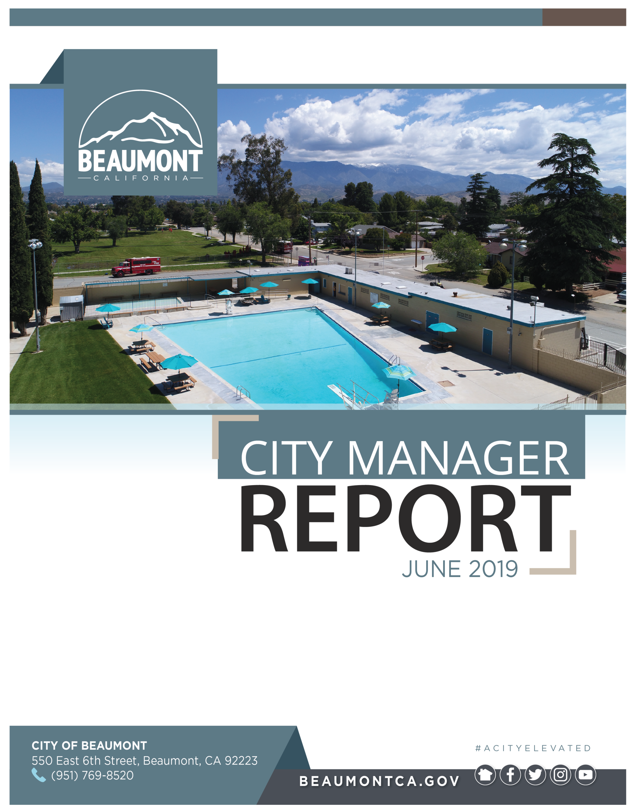 June Cover of the monthly City Manager Report